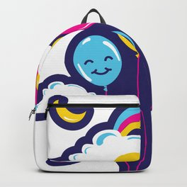Three Balloons in the night sky Backpack