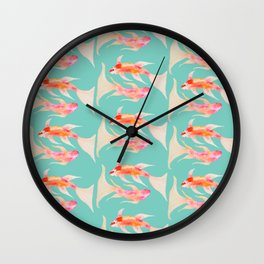 Swimming Koi Fish Wall Clock