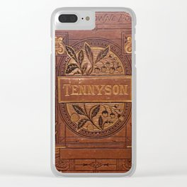 Antique Book Cover * Book Lover * Complete Works of Tennyson * 1800's  Brown Gold #Tennyson Clear iPhone Case