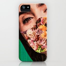 floral wall iPhone Case
