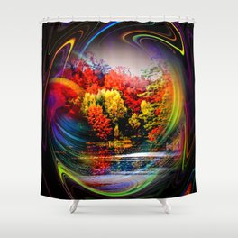 Abstract Perfection 42 Autumn Shower Curtain