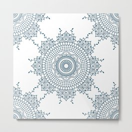 Mandala in Indian Ink #4 Metal Print