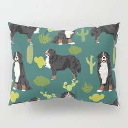 Bernese Moutnain Dog Cactus Print - bernese mountain dog, dog, cactus, arizona, desert Pillow Sham