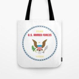 Guam U.S. Armed Forces Veteran Tote Bag