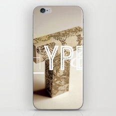 Typographic Hype iPhone & iPod Skin