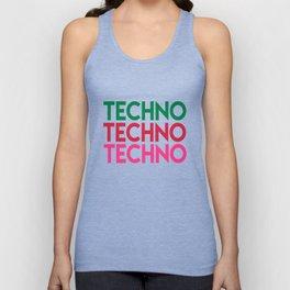 Techno techno techno rave quote Unisex Tank Top