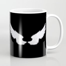 Castiel with Feather White Coffee Mug