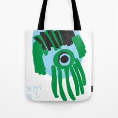 my eye is only on you [SQUID] [EYE]  Tote Bag