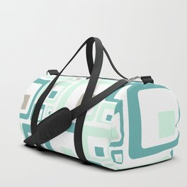 Retro Squares Mid Century Modern Background Duffle Bag