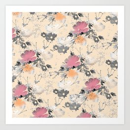 ombre floral - all Art Print