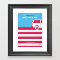 No786 My American Honey minimal movie poster Framed Art Print