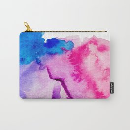 Modern pink blue abstract watercolor wash paint Carry-All Pouch