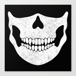 Skull Face Black and White Canvas Print