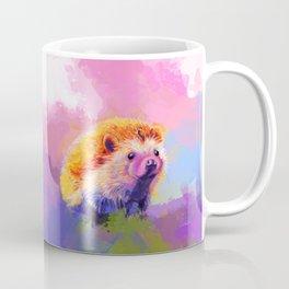 Sweet Hedgehog, cute pink and purple animal painting Coffee Mug