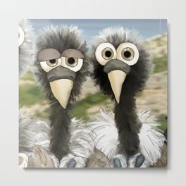 series: Old World Vultures - Gyps indicus and Gyps tenuirostris Metal Print