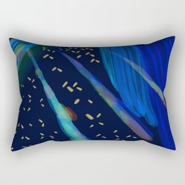 Beeple Bops and Blue Rectangular Pillow