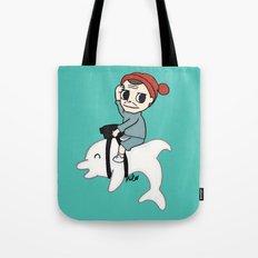 B Team Albino Dolphin Scout Tote Bag