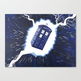 TARDIS Through the Rift Canvas Print