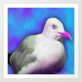 Pop Seagull Vineyard Art Print