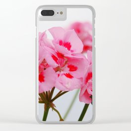 Pink Flowers in the Fog Clear iPhone Case