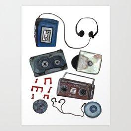 Retro tunes Art Print