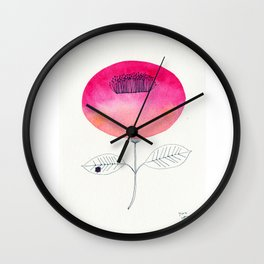 Flower of happiness Wall Clock