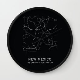 New Mexico State Road Map Wall Clock