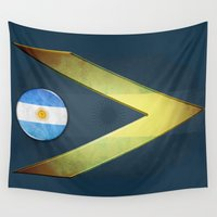 argentina Wall Tapestries featuring Argentina by ilustrarte
