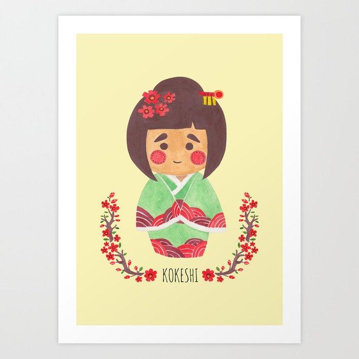 The Kokeshi Girl Art Print