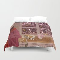 snow Duvet Covers featuring snow by Lara Paulussen