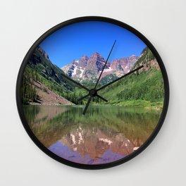 Reflecting Mountains Wall Clock