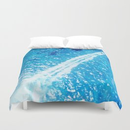Above the sea Duvet Cover
