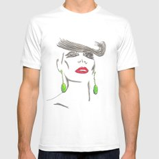 Pout&Quiff Mens Fitted Tee White SMALL