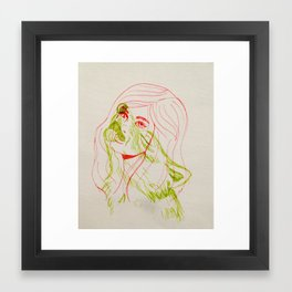 She Wolf Framed Art Print