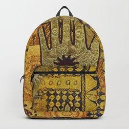 African Ethno Pattern Hand Symbol Backpack