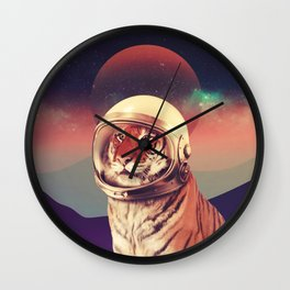Cosmos Cat Wall Clock