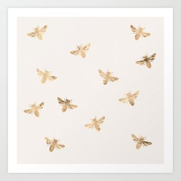 Busy Bees (Sand) Art Print