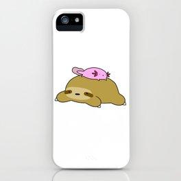 Axolotl and Sloth iPhone Case