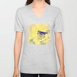 Sunshine and Butterflies Unisex V-Neck