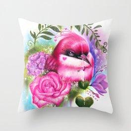 Be Mine Love Bird Throw Pillow