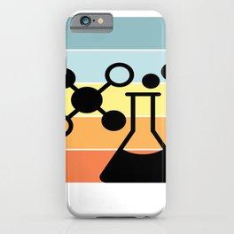 SANDY BEACH COLORS RETRO SUNSET CHEMISTRY FLASK iPhone Case