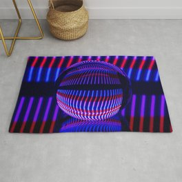 Red and Blue in the glass ball Rug
