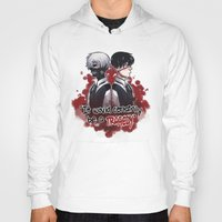 tokyo ghoul Hoodies featuring Tokyo Ghoul TRAGEDY  by lilbutt