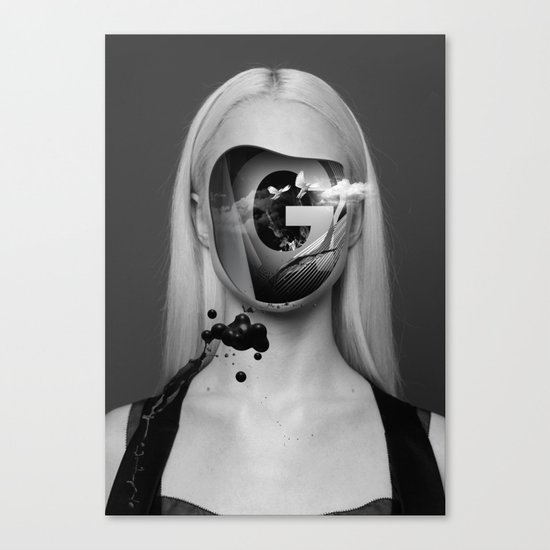 the Girl with no face Canvas Print