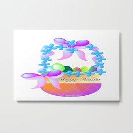 """"""" Easter Basket """" Metal Print"""