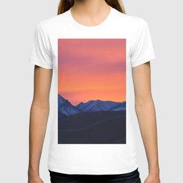 Living Coral Sunrise Challis Mountain Idaho T-shirt
