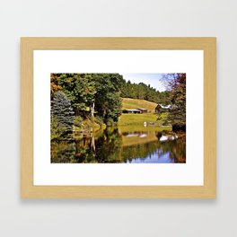 A Farm Pond In NY State Framed Art Print