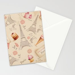 Love From Paris Stationery Cards