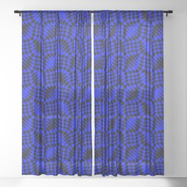 Blue shells Sheer Curtain