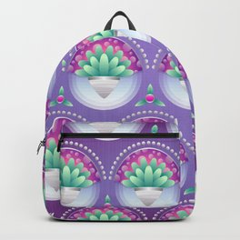 Background floral pattern purple Backpack